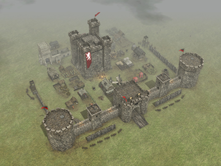 A castle who's defenses are only strong for a single direction of attack.