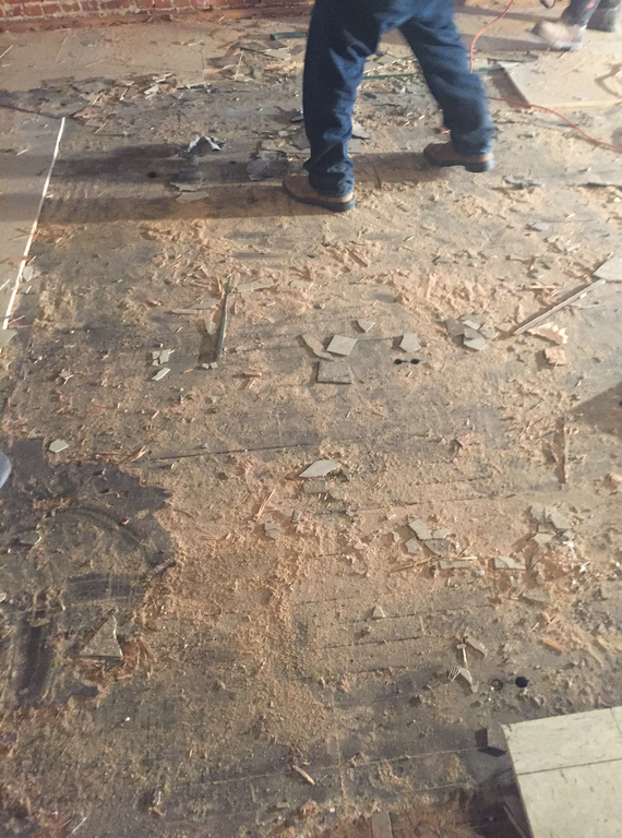 Removal of Old Floor 2