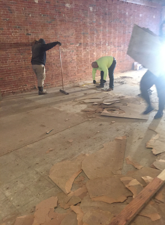 Removal of old floor 1