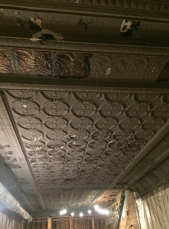Old Tin Panel Ceiling