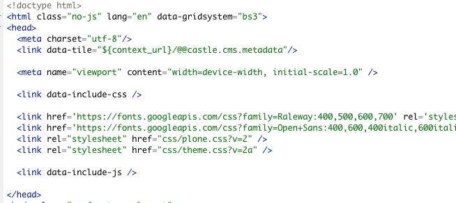 data attributes
